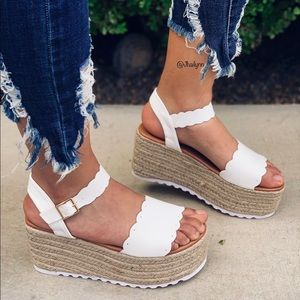 White Scalloped espadrille HP BEST IN BOOKWORTHY